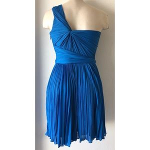 Halston Heritage Dresses - Halston Heritage blue pleated cocktail dress 2